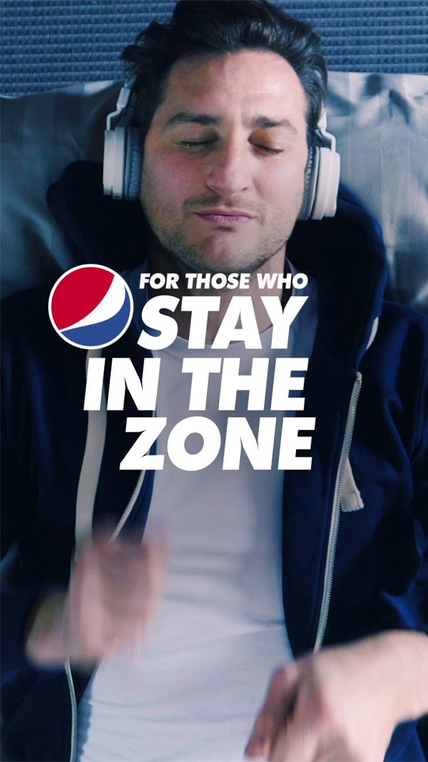 Follow<br>your taste<br>with<br> Pepsi